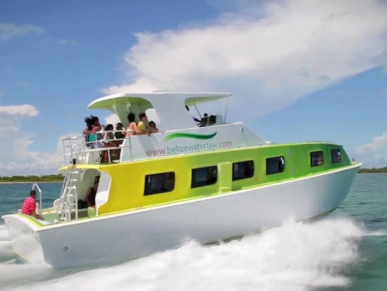 belize city water taxi transfer